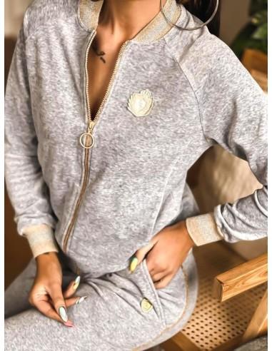 Długi Golf Warkocz Jasnoszary Modne Swetry Damskie Kolekcja Sizon Sklep Internetowy Sizon