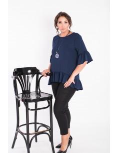 Bluza oversize z asymetrycznymi bokami -...